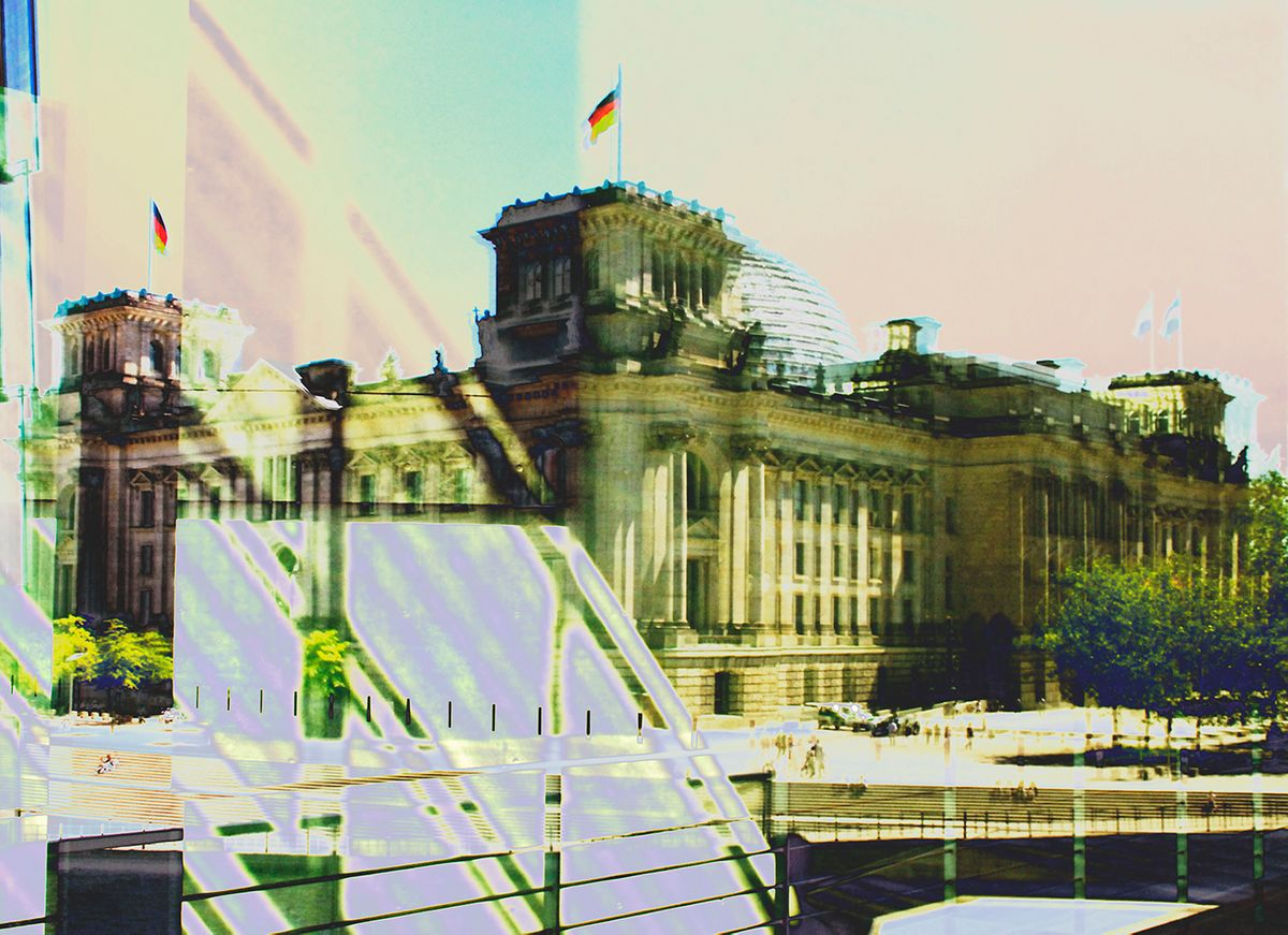 Marina Herrmann, Reichstag_0130, 2017, Mixed Media auf Aluminium, 140 x 200 cm, edition of 3